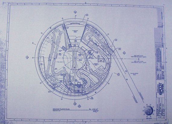 Walt disney world epcot test track second floor by for Florida blueprint