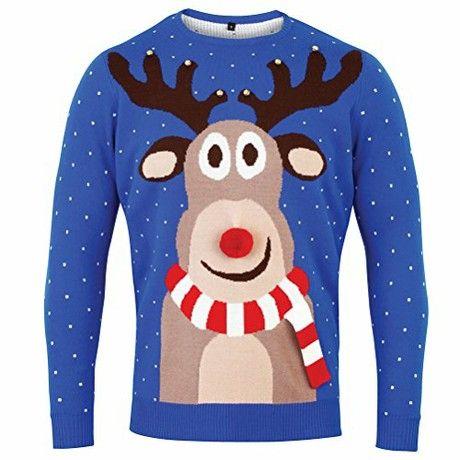 CHRISTMAS reindeer 3D knitted christmas jumper-Medium