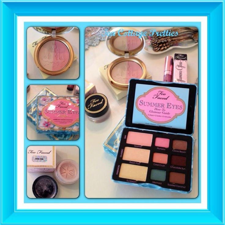 Too Faced Summer Eyes, Candlelight, Glamour Pigment and Lip Gloss!!