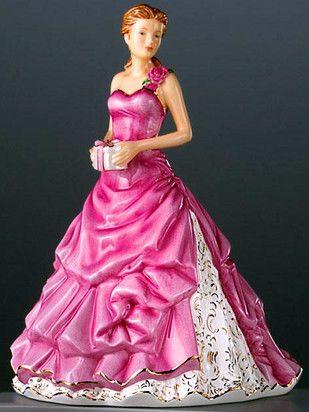 Royal Doulton Pretty Ladies Happy Birthday MSRP $320 HN 5542 Gorgeous Piece   eBay