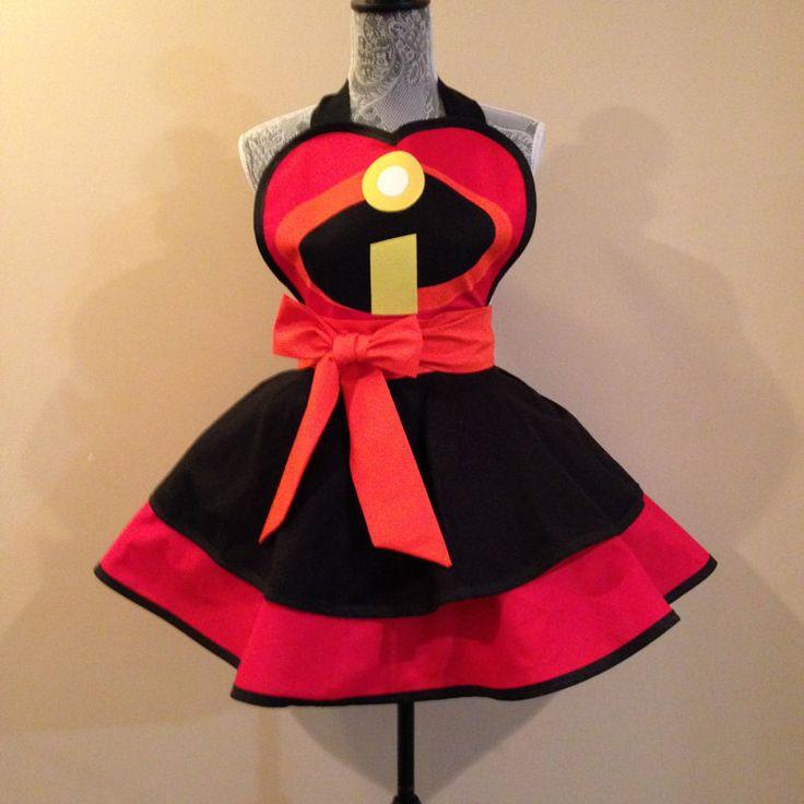 Incredibles disney apron womens apron retro by AriaApparel