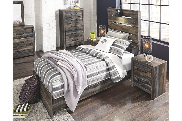Drystan Queen Panel Bed Bedroom Sets Furniture Queen Bedroom