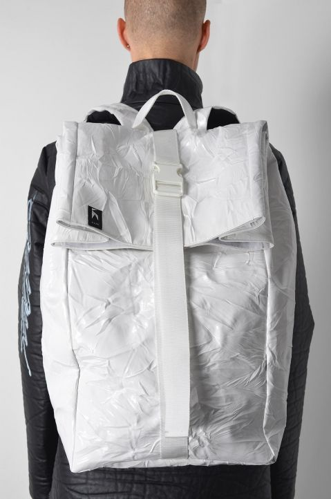 YOUNG DESIGNERS KLAR ROLLTOP WHITE BACKPACK