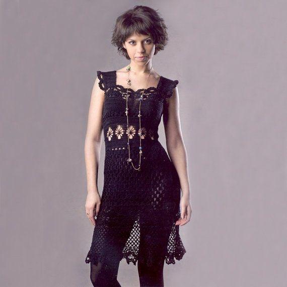Sexy crochet dress PATTERN, sleeveless dress, crochet cocktail dress pattern, crochet dress PATTERN only, detailed description in English.