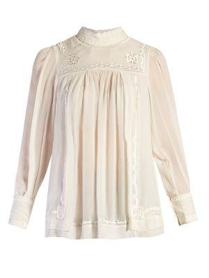 Maeva high-neck embroidered blouse | Isabel Marant | MATCHESFASHION.COM UK
