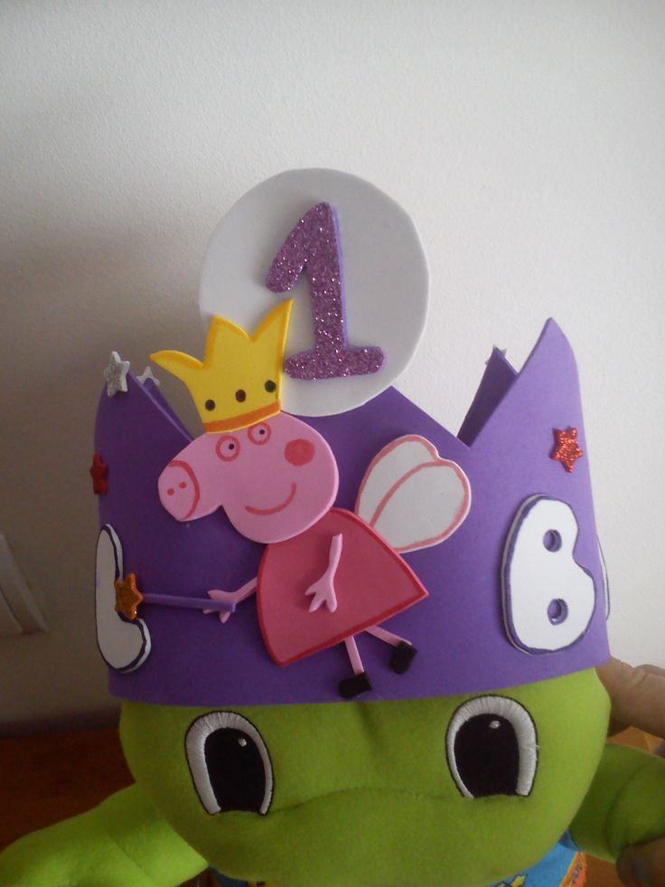 corona goma eva de pepa pig