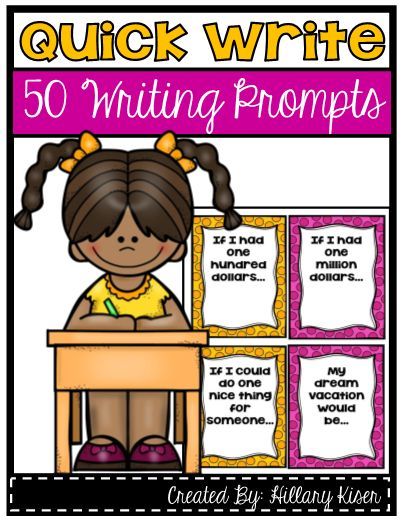 Quick Write Topics - 50 Quick Write Topics to keep in your classroom! Great for fast finisher students or just as daily writing topics! #teachersherpa