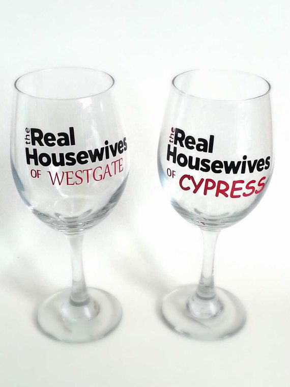 Personalized Real Housewives 20oz Wine Glass on Etsy, $10.00