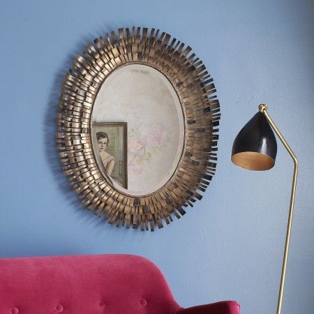 Fringe Mirror - Round & Oval Mirrors - Mirrors - Lighting & Mirrors