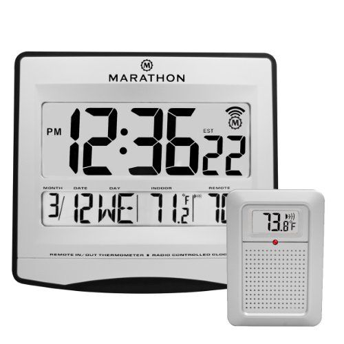 MARATHON CL030027 Atomic Wall Clock with 8 Timezones, Indoor/Outdoor Temperature & Date in Silver - Batteries Included Marathon http://www.amazon.com/dp/B00D7VP4DC/ref=cm_sw_r_pi_dp_8D0Nwb1GAEQZ9