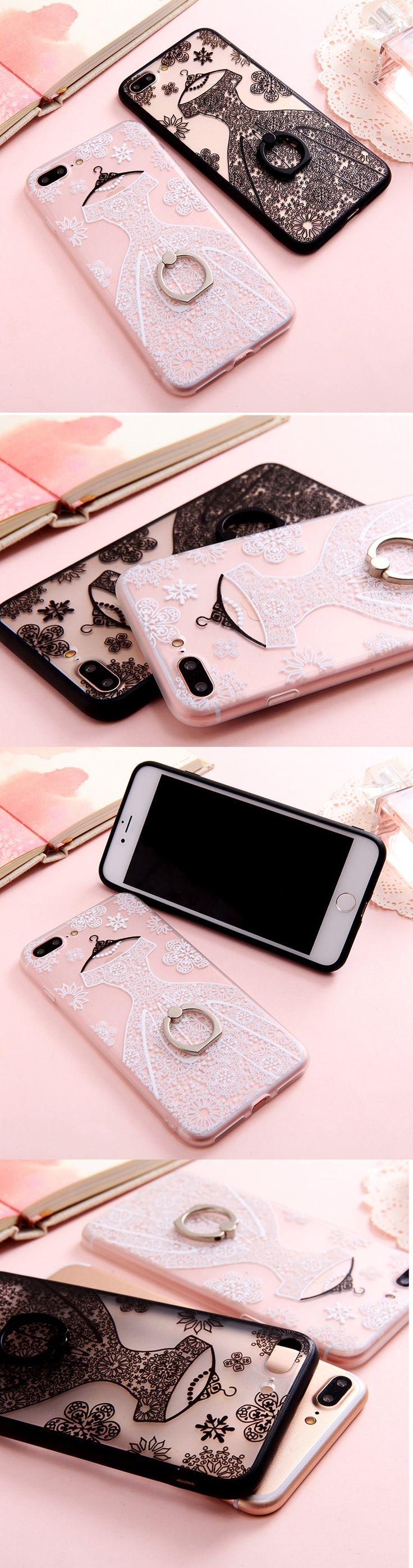 Black & White Ring Dress iPhone Case
