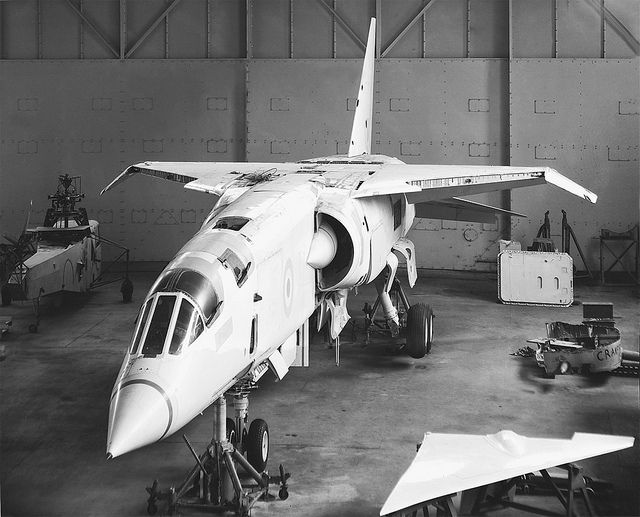 BAC TSR.2; The British Aircraft Corporation TSR-2 was a cancelled Cold War strike and reconnaissance aircraft developed by the British Aircraft Corporation (BAC) for the Royal Air Force (RAF) in the late 1950s and early 1960s.
