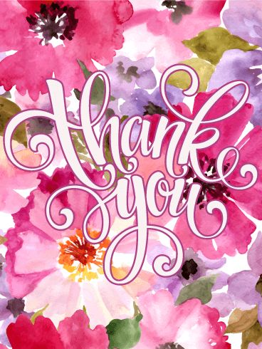 "Elegant Pink Flower Thank You Card: Say ""thank you"" in a fun way with this bright, exciting Thank You card. This is a versatile card that can be used for any occasion, but it's especially great for springtime with the pink and purple colors. Show someone you care with this beauty."