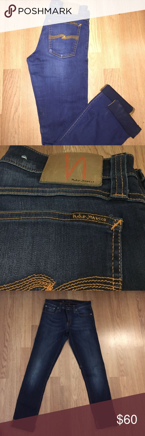 Nudie Jeans Wore these jeans a few times. 32 inches in length. Selling them because I'm no longer a size 28. 😇 Nudie Jeans Jeans Straight Leg