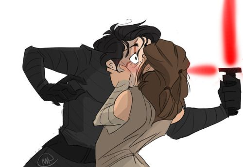 """missartsy: """"another ship that I'd thought I felt like doing! :') Reylo from the new Star Wars! """""""