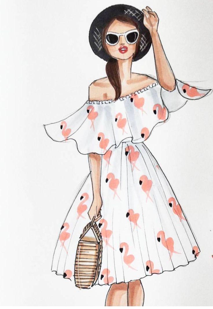 S U M M E R  #FashionIllustrations @reyniramirezillustrations  Be Inspirational ❥ Mz. Manerz: Being well dressed is a beautiful form of confidence, happiness & politeness