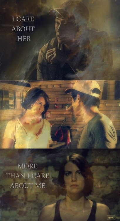 Glenn & Maggie. They found love in a hopeless place. Literally. TWD.