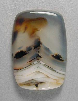 Montana agate cabochon by Sam Silverhawk gemstones