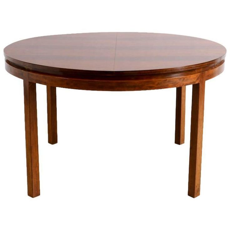 round extendable dining table by alfred hendrickx for belform