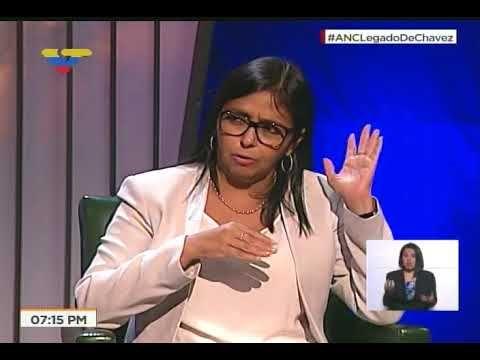 Delcy Rodríguez entrevistada por Adán Chávez, 31 octubre 2017