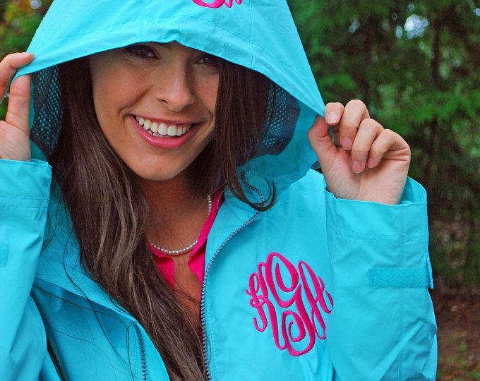 Monogram Rain Jacket Preppy Charles River New Englander Rain