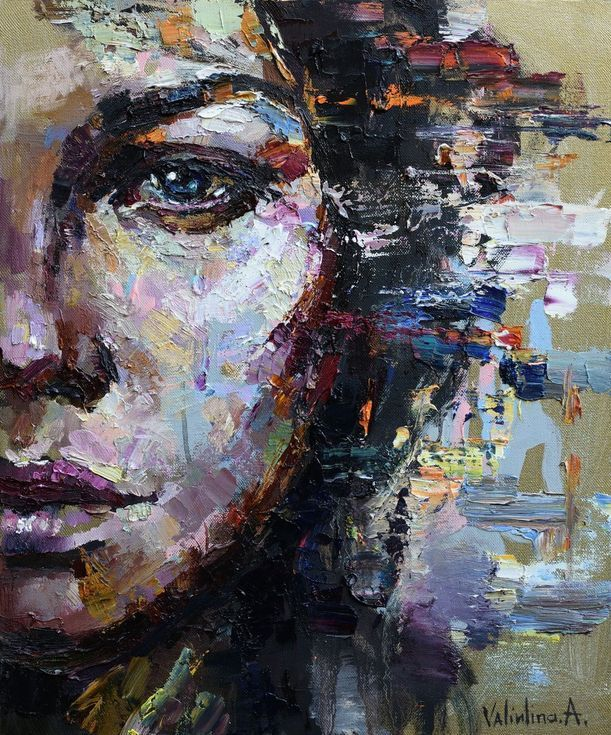 Buy Woman Face Abstract Portrait, Oil painting by Anastasiya Valiulina on Artfinder. Discover thousands of other original paintings, prints, sculptures and photography from independent artists.
