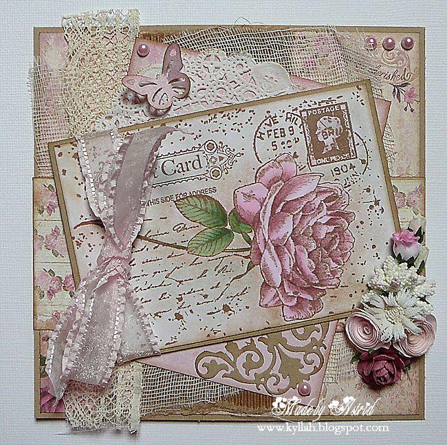 6410/0044 Noor! Design Clear Stamp Postcard Door Astrid Broer
