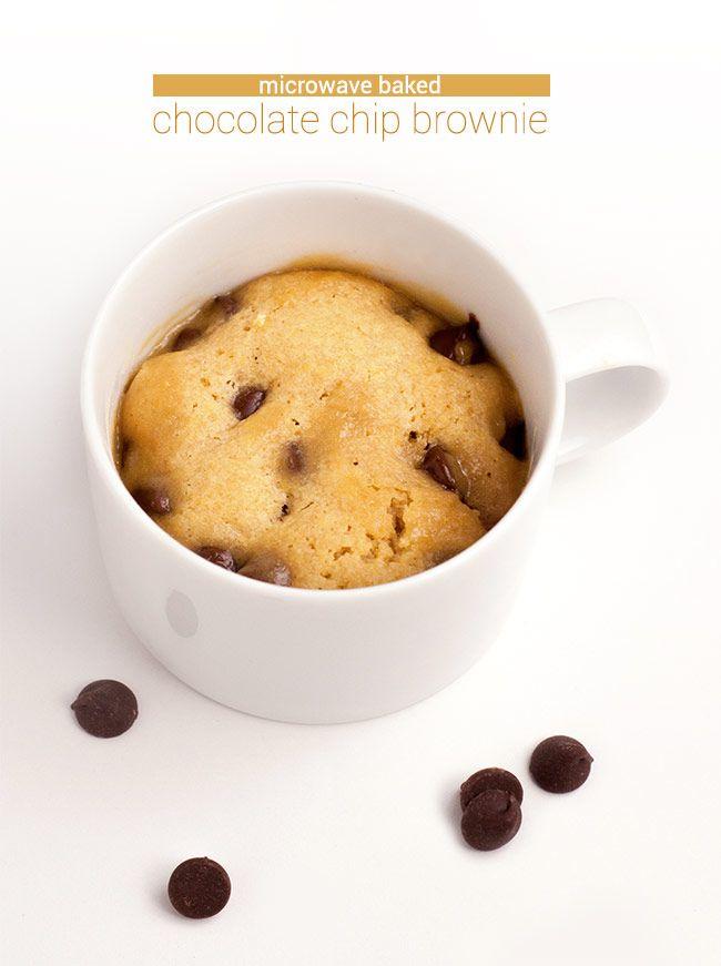 baked chocolate chip brownie chocolate chip mug cake chocolate chips ...