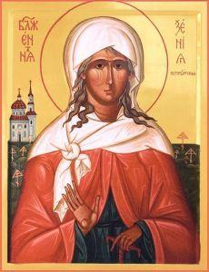 St Xenia icon.  Работы иконописцев