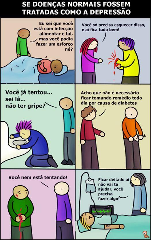E se a as outras doenças fossem tratadas como a depressão?