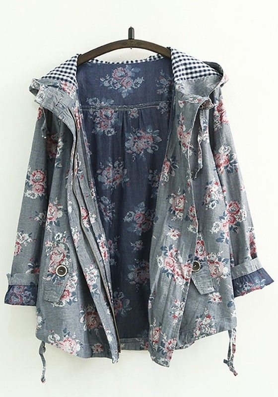 Floral and grey!