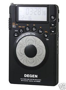 Degen DE1123 DSP AM/FM/SW Pocket Radio with 1GB MP3 Player & Recorder by Degen. $89.95. Made by the same manufacturer that makes widely-appraised Kaito shortwave radios, such as KA1101, KA1102 & KA1103, the newly released DE1123 is a versatile little radio with lot of functions & features. It seamlessly combines a traditional world-band radio, a 1GB MP3 player, a radio recorder and a voice recorder altogether into an incredibly light and compact gadget, which measures...