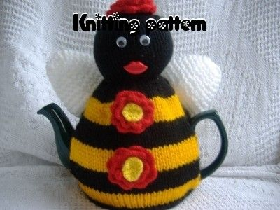 Bee tea cosy cozy knitting pattern . UK seller. by madmumknits, £2.75
