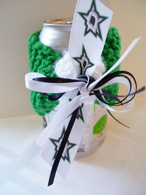 Dallas STARS Hockey Fans Handmade Can Cozy  FREE by ZZsTeamTime