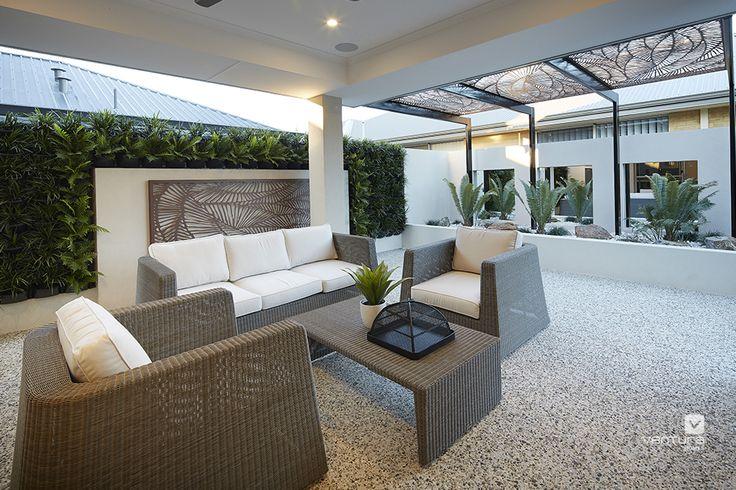 Alfresco patio backyard design. The Monterey V2 display home by #VenturaHomes