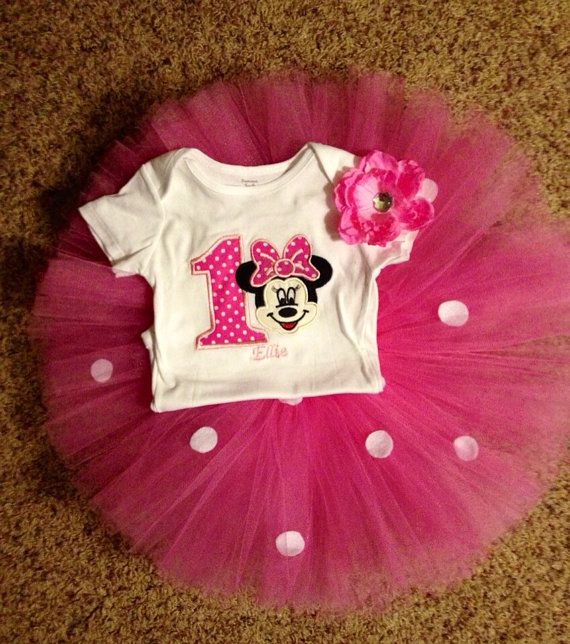 Minnie Mouse Inspired Pink Custom Birthday by PrincessEmmaCouture, $49.99
