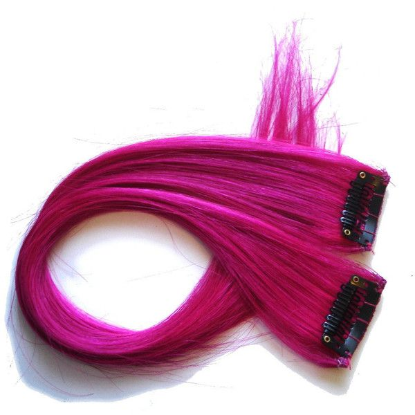 Pink Hair Extensions - Hot Hot Pink Clip In Streaks