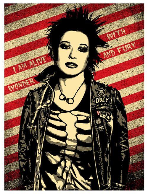 punk style art | OBEY-Levis-punk-girl