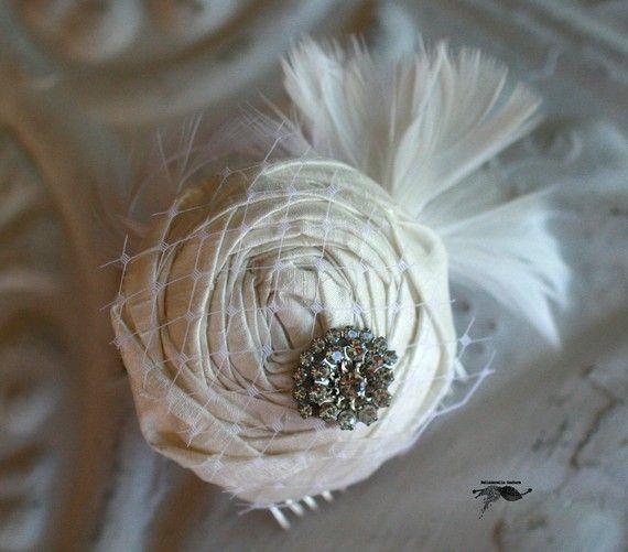 fabric flower hair clip