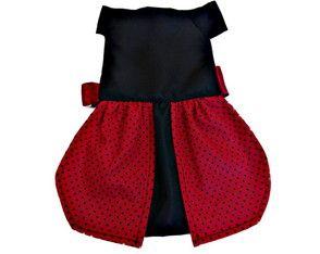 Vestido pet joaninha