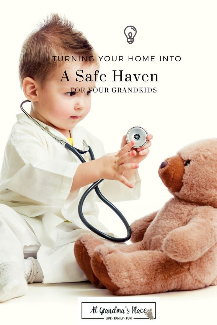 Simple ways to turn your home into a safe have for your grandkids. Find all this and more atgrandmasplace.com
