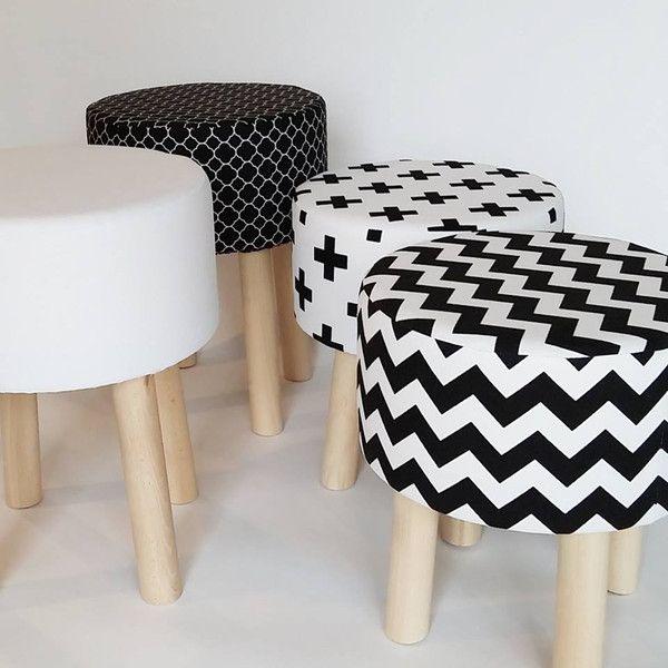 Stołek Fjerne M biały Home Decor - Tworczy-Kat - Krzesła