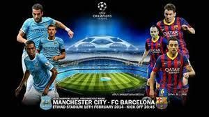 Manchester City versus Barcelona 0-2