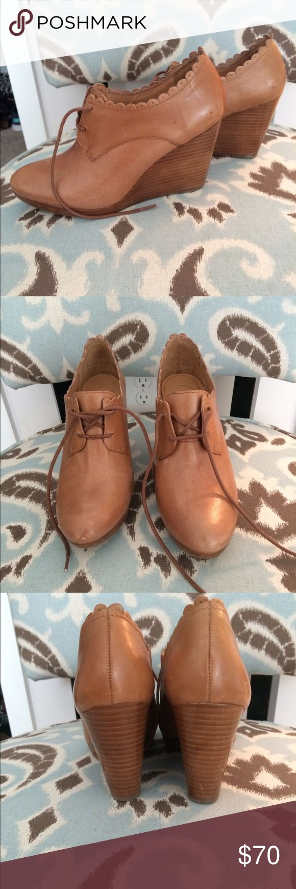 Jack Rogers Olivia Oxford wedge, worn once Worn once, in great condition. Minor wear. Jack Rogers Shoes Ankle Boots & Booties