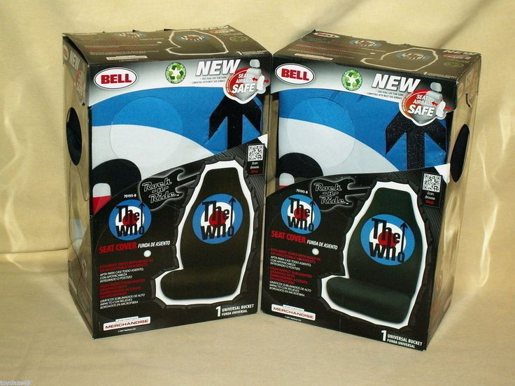 Who Car Seat Covers Logo Bell Bucket Set 2 2011 70195-8 New Rock n Ride Band #BellAutomotive
