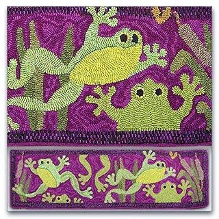 Frogs Love The Coloring Childrens Rugsprimitive Hooked