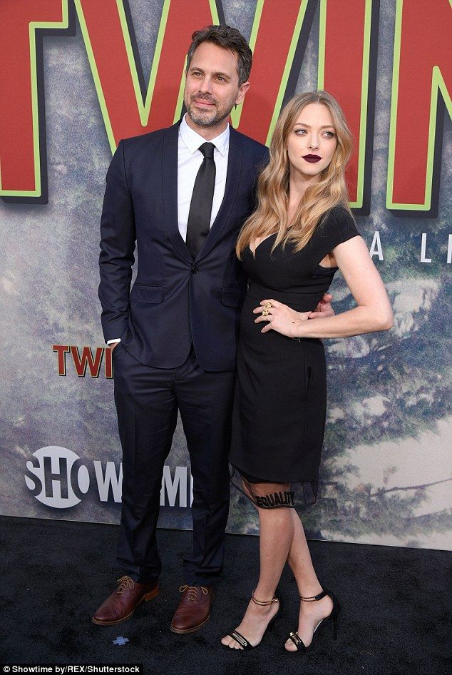 Looking good: Amanda Seyfried, 31, looked amazing less than two months after giving birth to her daughter with husband Thomas Sadoski, 40, on Friday