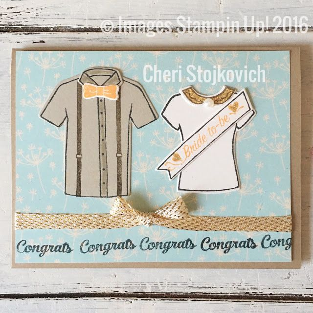 Custom Tees by Stampin Up demonstrator Cheri Stojkovich Occasions Mini 2017 barn wedding engagement congrats wedding
