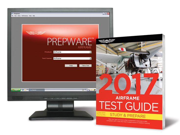 Fast Track 2017 Test Guide Bundle: Airframe Combined Test Guide book and study software for the Airframe FAA Knowledge Exam.