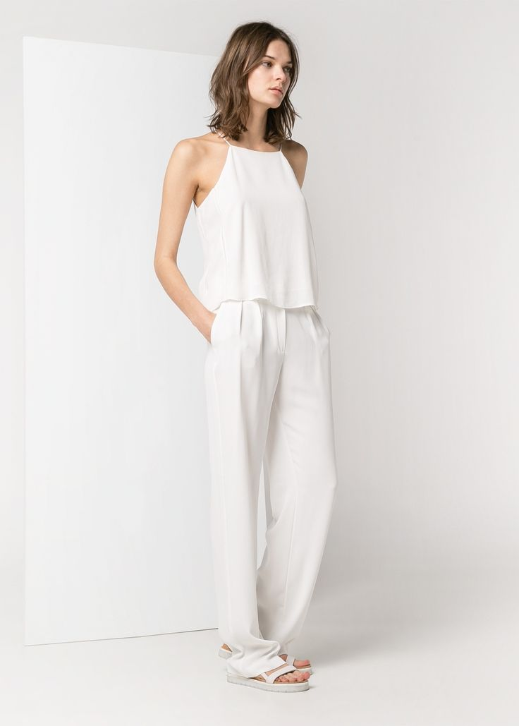 High neck cami and straight leg trousies
